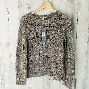 Eileen Fisher Speckled Cotton Crewneck Sweater